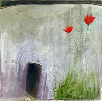 flowers at the house front by salah alkara