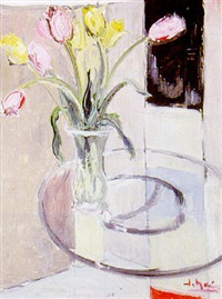 vase de tulipes by jo maire