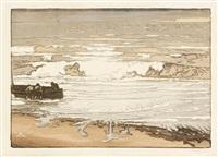 les lames déferlent, marée de septembre by alfred adolphe edouard lepère
