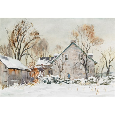 first snowfall by henry john simpkins
