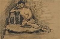 le repos du modèle ou nu au tabouret by henri matisse