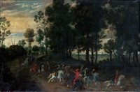 landscape with horsemen by jan wildens