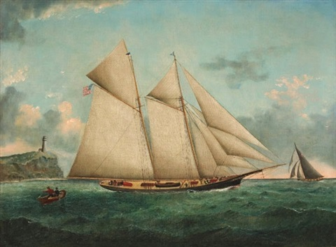 sailing by the lighthouse by william gay yorke
