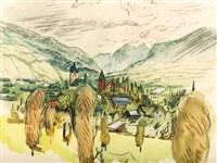 mountain landscape by josef dobrowsky