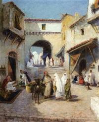 conversation dans le souk, tunis by valdrey
