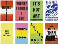 the novel that writes itself (8 works) by allen ruppersberg