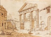 habitations animées dans les ruines du mont palatin by johannes huibert (hendric) prins