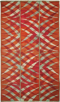 paula röd rug, designed by barbro nilsson