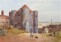 the ypres tower, rye, sussex by charles w. fothergill