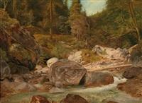 gebirgsbach by ludwig heinrich theodor (louis) gurlitt