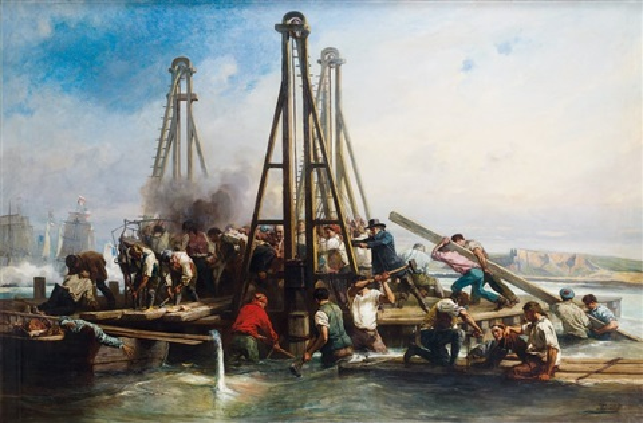 construction du fort en bois de boulogne sur mer by nicholas edward gabe