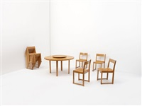 suite de dix chaises (set of 10) by sven markelius