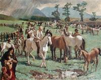 connemara horse fair by mary shirley-bevan