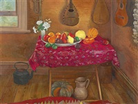 summer fruit with musical instruments by brian james dunlop