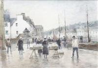 le marché en bretagne by georges dominique rouault