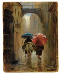 pélerins de dos sous la pluie by eduardo zamacois y zabala