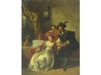 the physician's visit (+ the pet bird; pair) by casimir van den daele