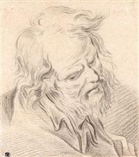 etude de tête d'homme barbu by françois boucher