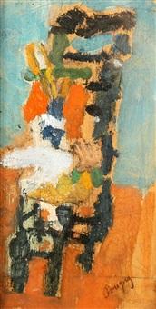 chaise et boites de couleurs by jean pougny