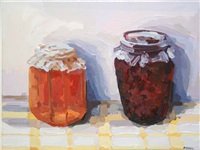 apple jelly & raspberry pot by brien vahey