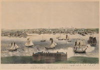 newport, r.i. in 1730 (2 works) by john perry newell