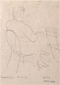 seated woman by georges (karpeles) kars