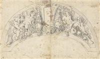 auf wolke schwebende putten und gottvater (study) by friedrich sustris