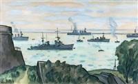le port de brest by louis robert antral