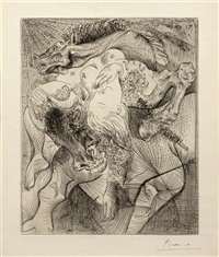 femme torero ii (from la suite vollard) by pablo picasso