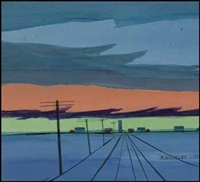 prairie sunset by robert newton hurley