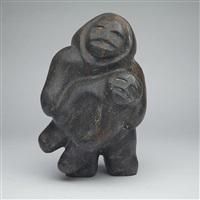 figure holding child by barnabus arnasungaaq