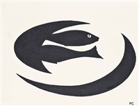 two fish on a plate by patrick caulfield