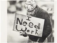 untitled (i need work) by karl haendel