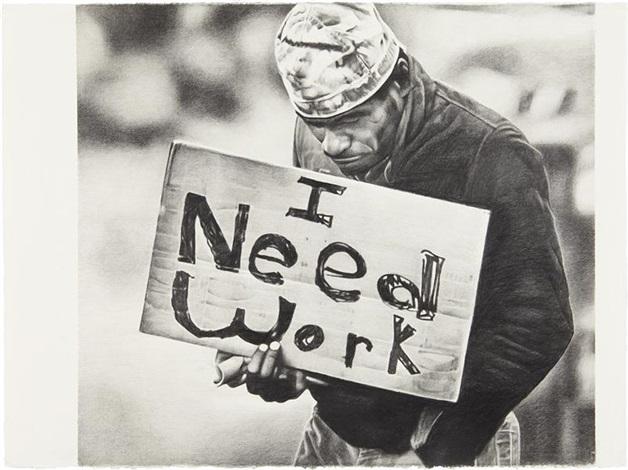 untitled (i need work) by karl haendel