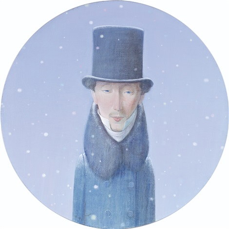 hans christian andersen in the snow by liu ye