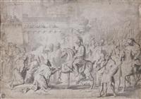 bertrand comte de toulouse reçoit les clés de la ville de tripoli by raymond de lafage