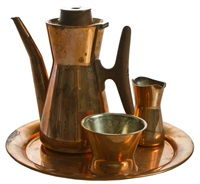 coffee set, 4 pcs by tapio wirkkala