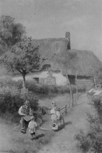 the chairmender - old cottage at hailsham, sussex by alfred montague rivers