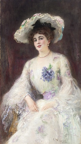 portrait of a lady by konstantin egorovich makovsky