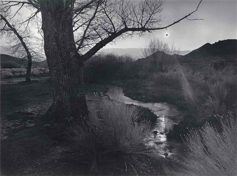 the black sun tungsten hills owens valley california by ansel adams
