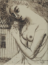 nude by paul delvaux