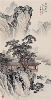 画阁松风 (pavilion and pine) by ma dai