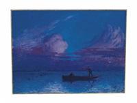 promenade en barque de nuit à brière by ferdinand puigaudeau