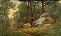 a new england wood path by edward clarke cabot