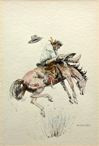 bucking bronco by joe rader roberts