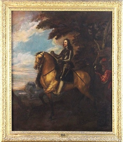 charles i on horseback by sir anthony van dyck