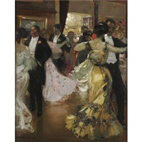 at the ball by charles hoffbauer
