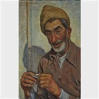 peasant in fur hat by traian biltiu dancus