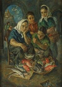 vendeuses de poissons à ibiza by martin baer