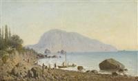 view of ayu dag by petr petrovich vereshchagin